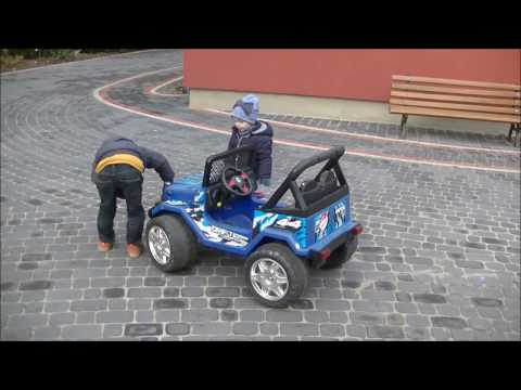 ADA i BARTEK. Jeep Drifter Raptor 12V Electric Car   JEEP NA AKUMULATOR i JEŹDZIK PUKYLINO   PUKY