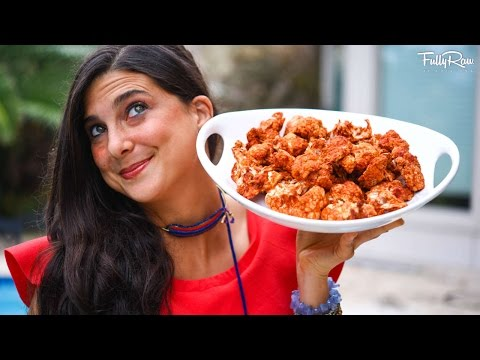 Cauliflower Buffalo Wings! Raw Vegan Snack Ideas!