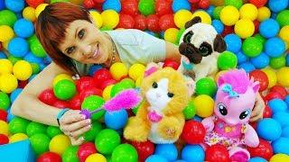 Детский сад - Играем с Пинки Пай и мягкими игрушками
