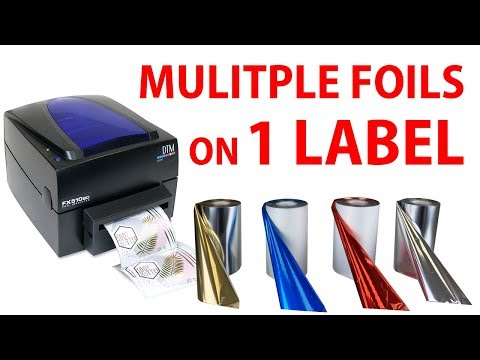 How to print FIVE foils on 1 LABEL with thermal label printer FX510e