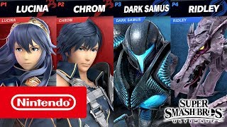Super Smash Bros. Ultimate – Dark Samus and Chrom gameplay (2 on 2, Stage Morph)