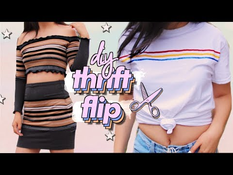 THRIFT FLIP | DIY Clothing Transformation Challenge | JENerationDIY