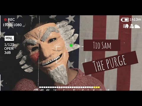 Máscara Tio Sam | the purge | 12 horas para sobrevivir | disfraz para halloween