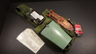 1967 Vietnam US Leg Holster Pilot Survival Kit Review Vintage Military Gadget Testing