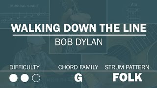 Walking Down The Line (Bob Dylan)   How To Play   Beginner Guitar Lesson