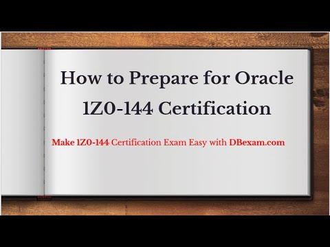 1Z0-144 - Oracle Database 11g- Program with PL/SQL Certification ...