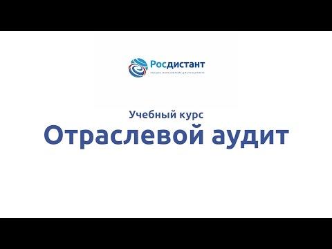 """Вводная видеолекция к курсу """"Отраслевой аудит"""""""