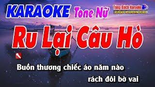 Ru Lại Câu Hò ( Tone Nữ )    Karaoke Nhạc Sống Tùng Bách