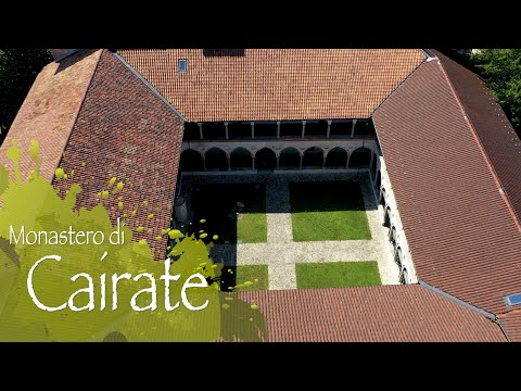 Il Monastero di Cairate visto dal drone