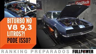 Dois Turbos No Chevy Camaro 1968, Com Um V8 De 9,3 Litros! MONSTRÃO?!