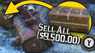 HIDDEN CRASHED TRAIN WITH $1100 IN GOLD BARS! Red Dead Redemption 2 EASY MONEY