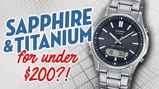 Sapphire and Titanium for Under $200?! Casio Lineage LCW-M100-TSE-1AJF.