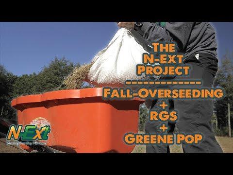 Fall Overseeding + RGS + GreenePoP // N-Ext Lawn Renovation