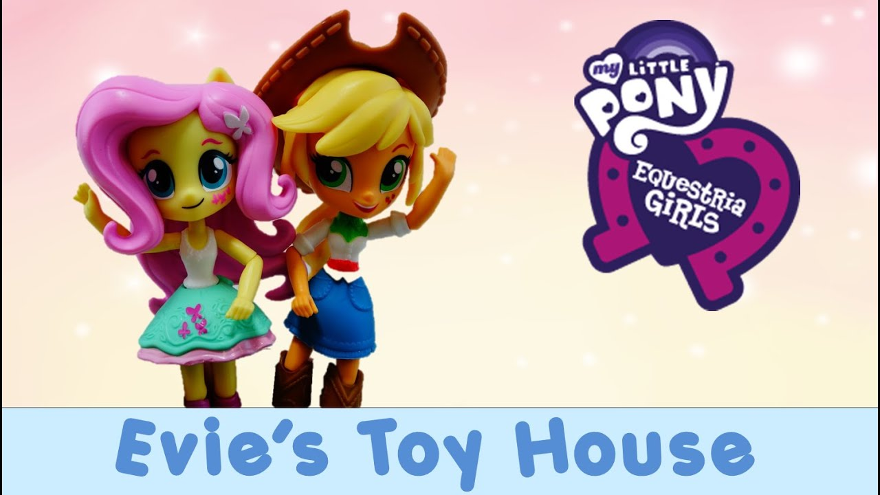 MLP Equestria Girl Minis Unboxing - Fluttershy and Applejack | Evies Toy House