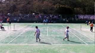 ソフトテニス国体2012成年男子準決勝神奈川県ー奈良県1松口・山口ー桂・内山