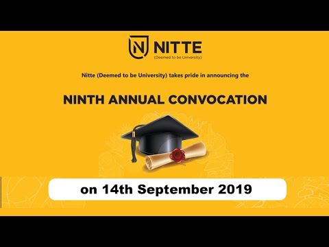 9th Annual Convocation of Nitte (Deemed to be University)