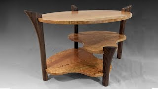 Building An Oval Table With Sculpted Legs - Woodworking