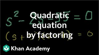 Solving Quadratic Equations by Factoring.avi