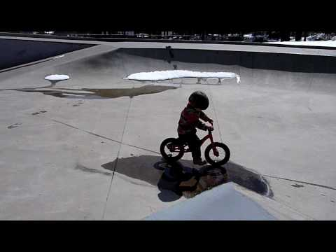 Kyle riding his first skate park