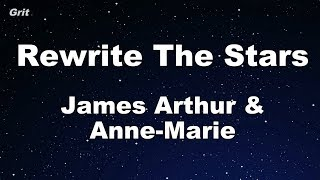 Rewrite The Stars   Anne Marie & James Arthur Karaoke 【No Guide Melody】 Instrumental