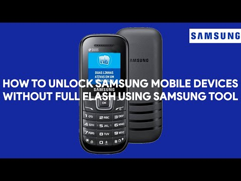 How To Unlock Samsung Mobile Devices Without Full Flash Using Samsung Tool - [romshillzz]
