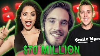 Highest Paid Youtubers Of 2016 (PewDiepIe, Roman Atwood,Superwoman,Smosh,HolaSoyGerman, Markiplier)