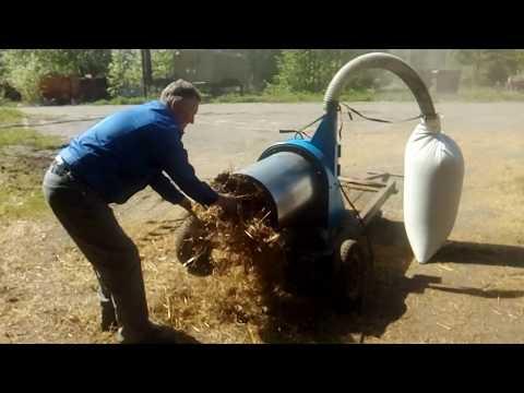 Испытания измельчителя сена и соломы.