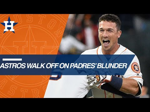 Hosmer loses Bregman's popup as the Astros walk-off
