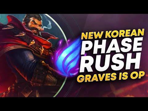 RANK 1 PLAYS KOREAN PHASE RUSH GRAVES!| League of Legends