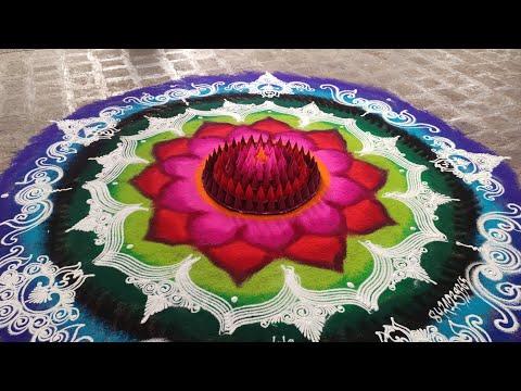 3d mandala rangoli design colorful by ganesh vedpathak
