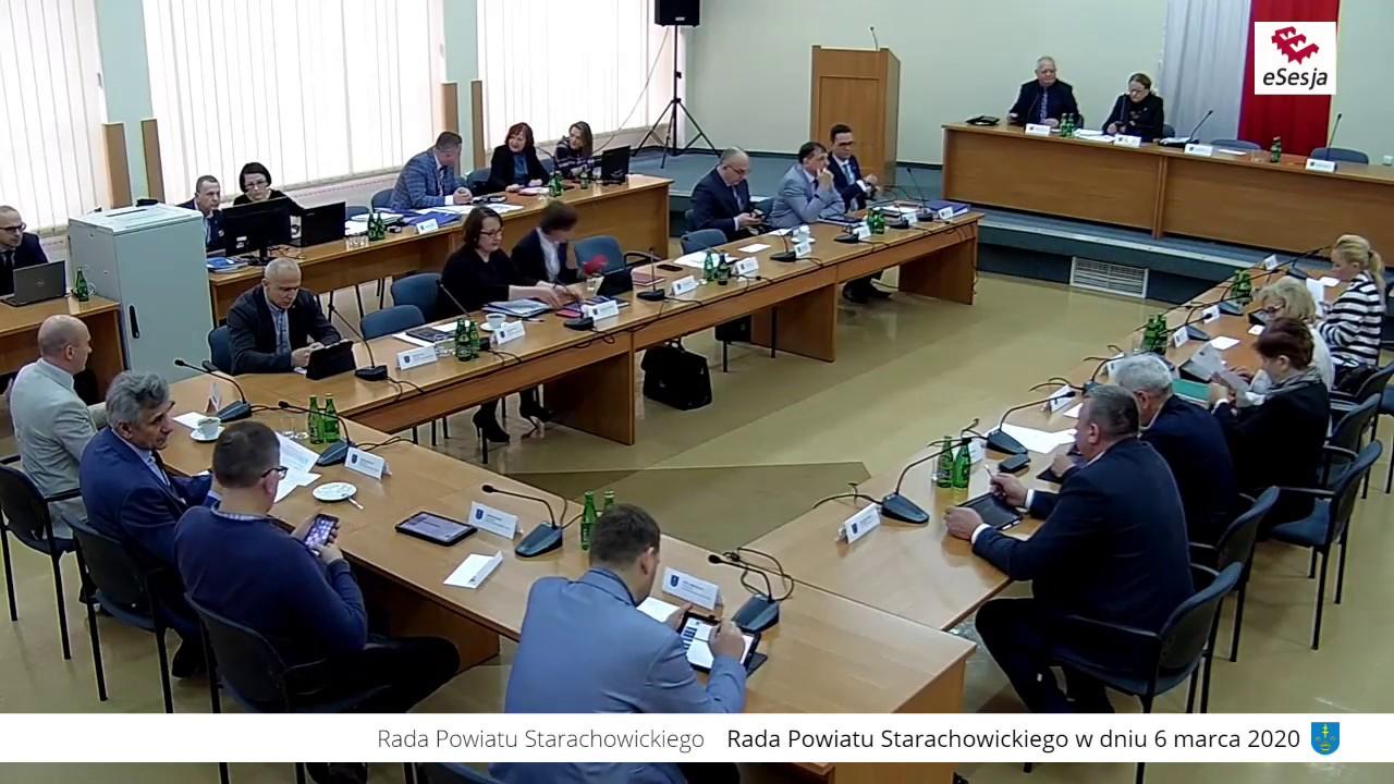 XIX Sesja Rady Powiatu w Starachowicach 6.03.2020r.