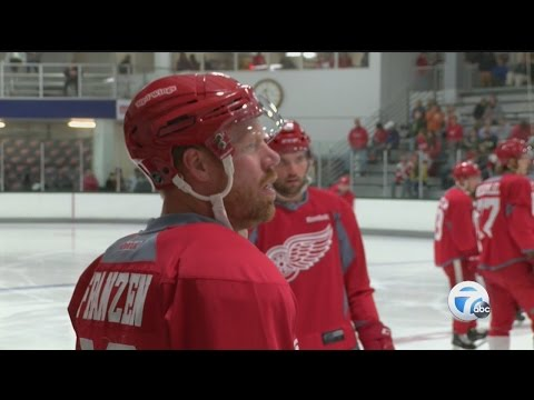 Johan Franzen nervous for first game with Red Wings since January concussion