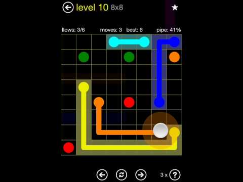 Flow Free Regular Pack 8x8 Level 10 Load2map Video Free