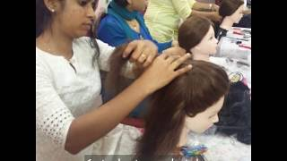 Learn Hair styling & Sari draping at Face Palette academy