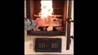 Top Down Burn in a Masonry Heater
