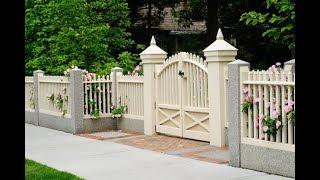 Modern Decorative Backyard Garden Wooden Fence Design Ideas