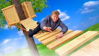 DANGEROUS Tree House Bridge Build! *WATCH YOUR STEP*