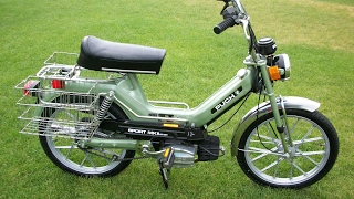 puch sport moped getting brought back to life after sitting 22 years