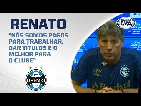 GRÊMIO AO VIVO! Renato Gaúcho concede entrevista coletiva direto do CT Presidente Luiz Carvalho