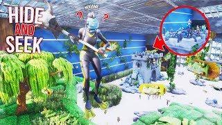 *NEW* EPIC HIDE AND SEEK INSIDE A FISH TANK ON FORTNITE!!!! (Fortnite Creative)