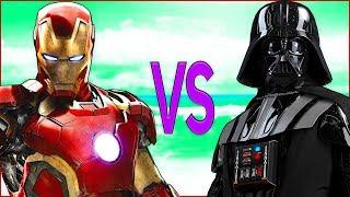 STAR WARS VS IRON MAN | СУПЕР РЭП БИТВА | Звездные Войны фильм game ПРОТИВ Железный Человек Мстители