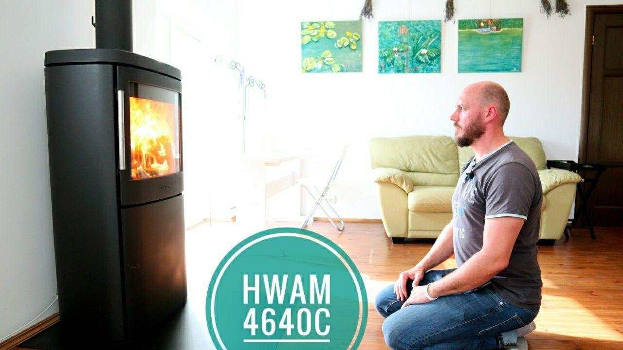Датская печь-камин  Hwam 4640 . Испытания в Беларуси