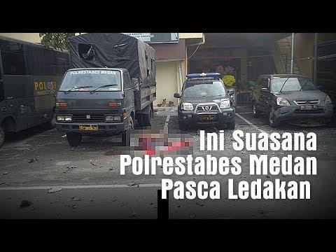 Ini Suasana Polrestabes Medan Pasca Ledakan