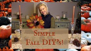 Simple Fall Craft DIYs! | Thanksgiving Ideas | Easy Fall DIY |
