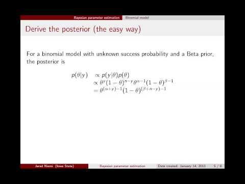 Estimación bayesiana de parámetros