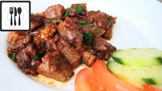 Жареная баранина с овощами по-турецки. Мясное соте. Кавурма из баранины. / Sebzeli kuzu kavurmasi