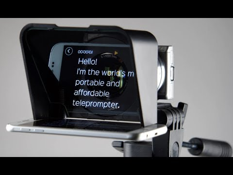 How To Use The Teleprompter-To Look Like a Pro