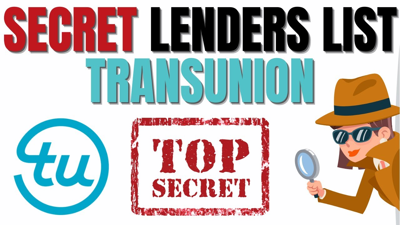 TRANSUNION TRICK LENDING INSTITUTION LIST|BANKS and CREDIT Cards That PULL From Transunion (MUST VIEW) thumbnail
