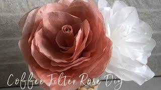 Easy Coffee Filter Rose DIY