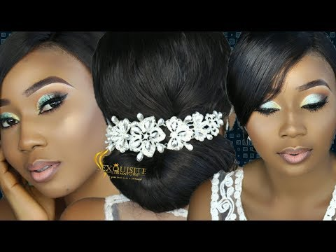 How To bridal Hair Updo and Makeup #3 / Nigeria Wedding Makeup